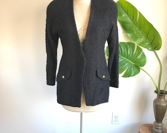 Vintage 80's Blazer Jacket with Shoulder Pads by Mark Eisen Size 12