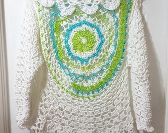 Ladies Circular Sweater Shawl