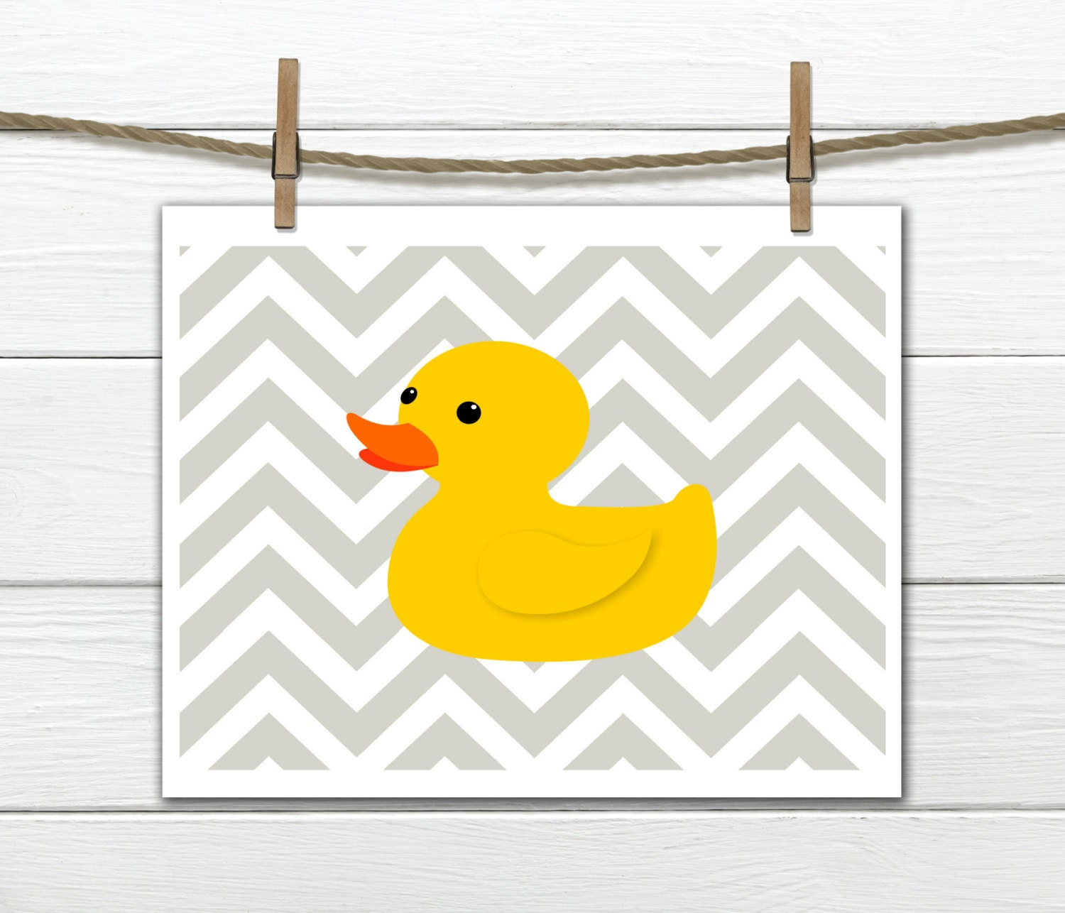 Children\'s Art Print Bathroom Decor Rubber Duck
