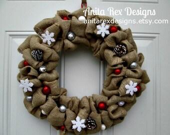 Christmas Burlap Wreath