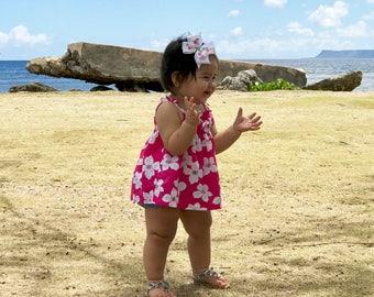 Hibiscus Hair Clip, Hibiscus Flower, Hibiscus, Hawaiian Hair Bow, Tropical Hair Bow, Aloha Bow, Attach to Hair Clip, Barrette or Headband