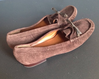 Women's Talbot's brown suede loafers size 10