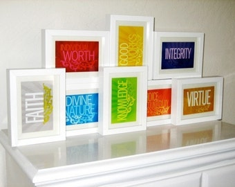 LDS Young Women Values 4x6 prints (all eight values)