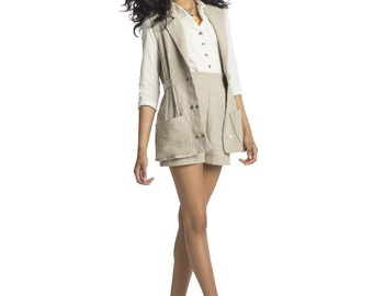 ORGANIC Hemp Linen Vest, Made to Order