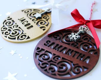 Personalized Christmas Ornaments with name - Personalized Wood Ornament - Christmas Name Ornament - Christmas Decoration Ideas