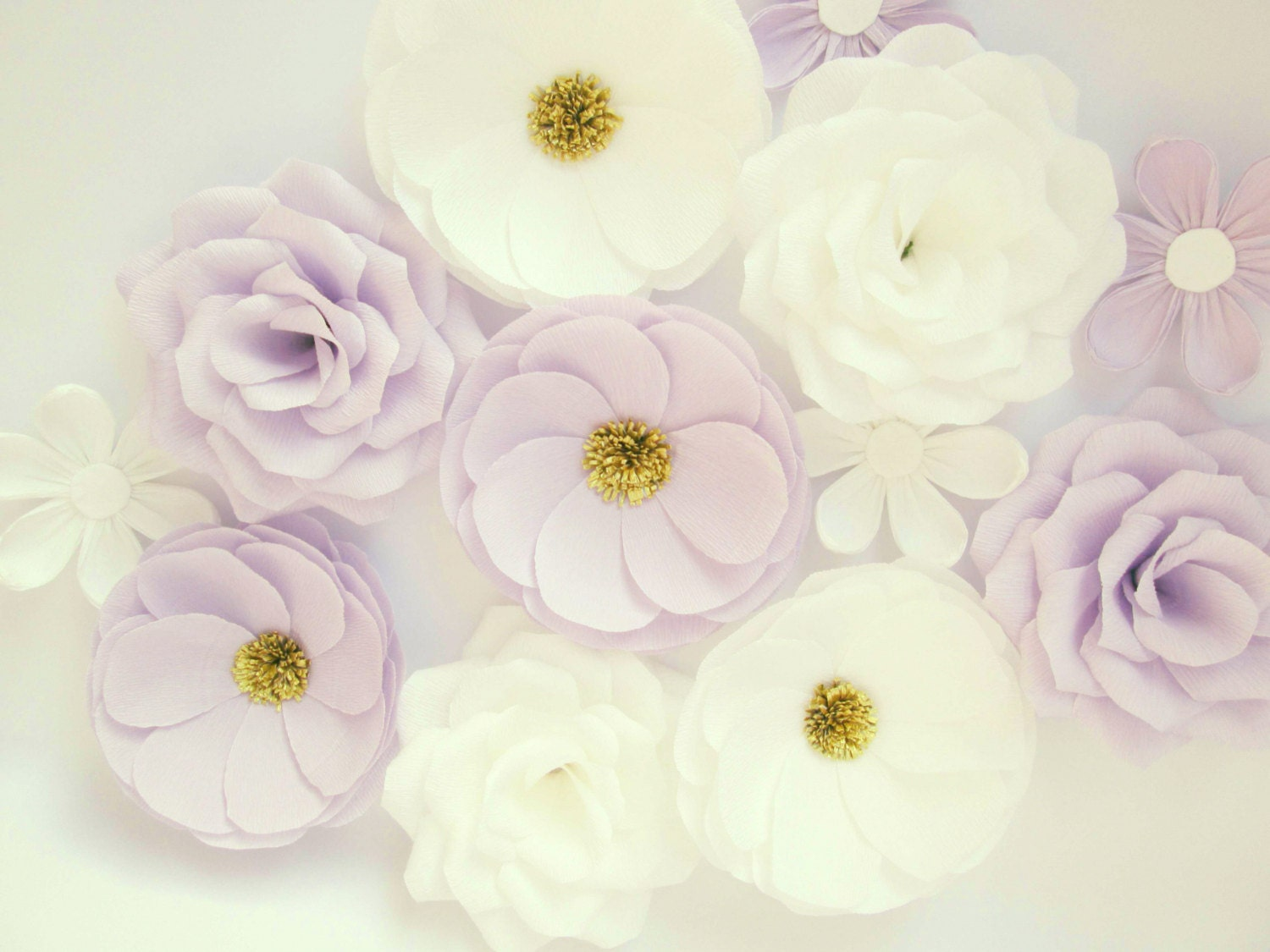 12 Paper Flowers Wall Flowers Arch Flowers Wedding