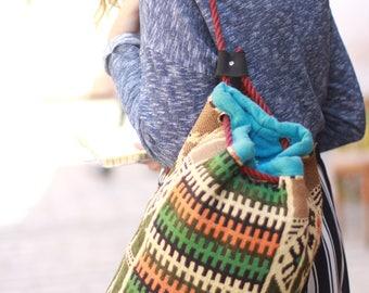 Boho Bedouin Embroidered Handmade Siwa Backpack| Egyptian Bag| Tribal Bedouin Bag| Embroidery Bag| Bedouin Wool Bag| Siwa Colorful Backpack
