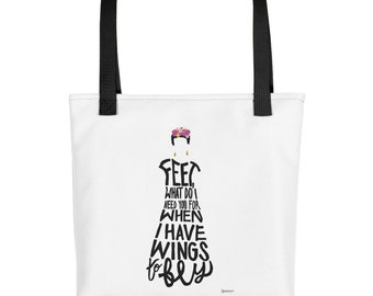 Frida Kahlo Quote Tote / Frida Kahlo Bag / Feminist Art / Inspirational Quote Tote / Gifts for Her