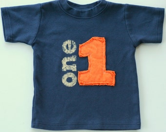 Number Applique,First Birthday Shirt, Toddler Birthday Shirt, Vintage Toddler Tee, Number Shirt, 2nd Birthday, Personalized Gift
