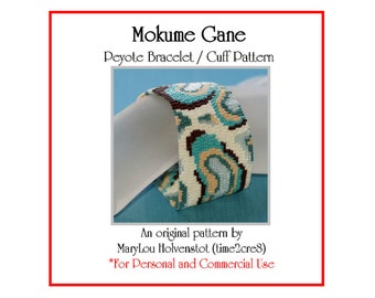 Peyote Bracelet Pattern ... MOKUME GANE ... Abstract . Multicolor . Organic . Wood Grain . Colorful . Chic . Accessory . 3 for 2