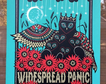 Widespread Panic Concert Poster from Kansas City Starlight Theatre June 2014