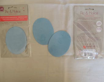 1 pair of iron-on elbow/knee blue clothing