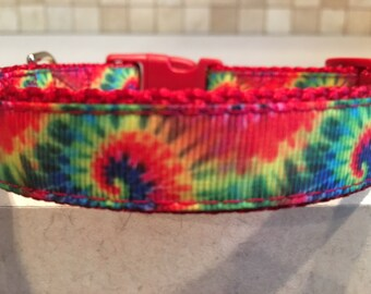 Run and Dye Small and Medium Dog Collar with Optional Matching Leash