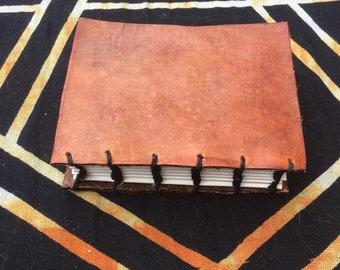 Leather-bound Coptic Stitch Mini Journal