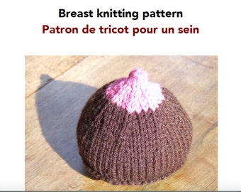 Knitting pattern for educational breast model
