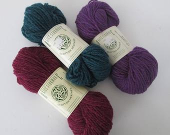 Pure Shetland Wool - Alice Starmore Scottish Heather Yarn - 3 Skeins