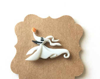 Zero Pin, Zero Ghost Dog Pin, Nightmare Before Christmas, Brooch, Lapel Pin, Tie Tack, Disney Gift