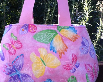 Pink Butterfly Little Girl's Purse Ready to ship