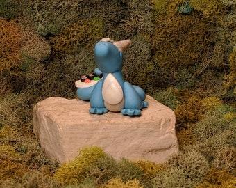 Polymer Clay Dragon- Handmade Dragon - Fantasy Sculpture - Clay Dragon - Dragon Figure - Miniature Dragon - Dragon Sculpture - Desk Buddy