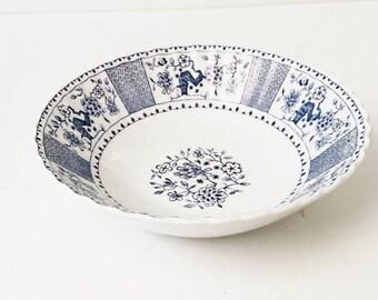 Blue and White China Bowl, Park Lane, England, Serving bowl J &G Meakin