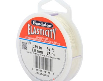 Beadalon Elasticity - clear - 1.0mm - 25m