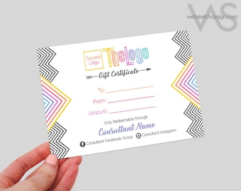 Arrow Gift Certificate Design - voucher customer appreciation Consultant Unique Info discount custom personalized coupon lu la roe