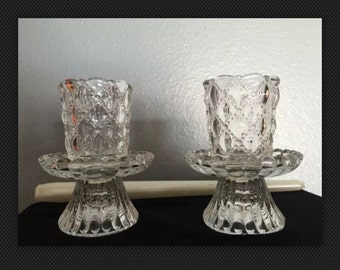 Party lite crystal candle holders