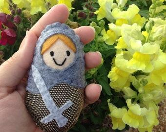 Saint Joan of Arc mini doll