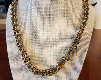 Inverted Round Chainmail Necklace