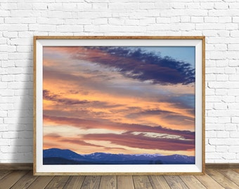 "landscape photography, large art, large wall art, instant download printable art, clouds, instant download art, printable - ""Paint the Sky"""