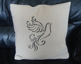linen pillow cover White Dove paint