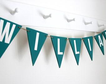 Name Bunting - Nursery Decor - Personalised Bunting - Children's Bedroom -  New Baby Gift - Baby Boy Nursery - Baby Boy Gift
