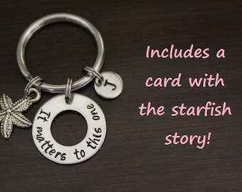 It Matter To This One Key Ring/Keychain/Zipper Pull-Foster Care Keychain-Foster Parent Gift-Adoption - Social Worker Gift - Adoptee  - I/B/H