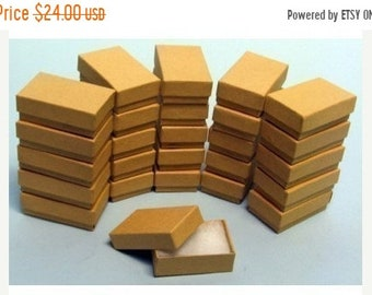 TAX SEASON Stock up 100 Pack of 3.25X2.25X1 Inch Size Kraft Paper Cotton Filled Jewelry Presentation Boxes