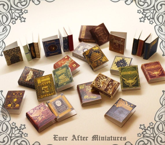Dollhouse Miniatures Printables: 28 Dollhouse Miniature Book Cover Set 3 Collection Of 28