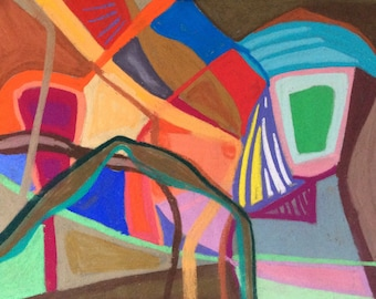 Colourful, absract, intuitive drawing/painting