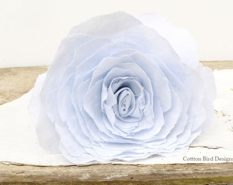 4th Anniversary Linen Whisper Blue Flower Gift for Wife Everlasting Flowers by Cotton Bird Designs