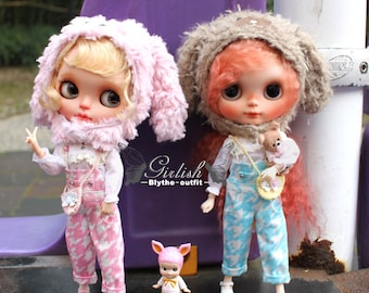 Girlish - Cute Bunny Set for Blythe doll - dress / outfit