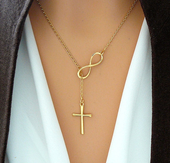 silver handmade sterling and infinity personalized lariat necklace products eternity cross grande