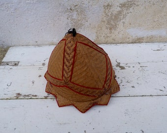 Vintage straw baby hat coming from Madagascar