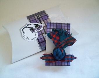 Scottish Tartan Small Thistle Buttonhole