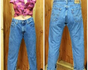 Vintage Levis 505-Jeans / 30 X 30 / gerade Bein / mittlere waschen hoch Wasited verblasst