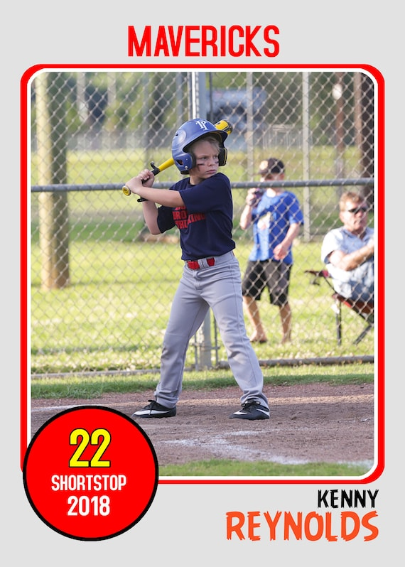 Baseball Card Template. Perfect for trading cards for your team. For ...