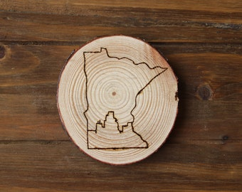 Minneapolis Skyline - MN Coaster - Wood Coaster