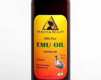 12 oz EMU OIL AUSTRALIAN Triple Refined Organic 100% Pure