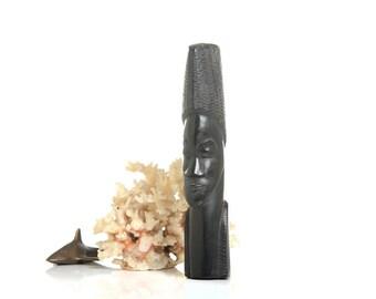 African ebony figurine, african decor, bohemian decor, african art, african statue, wooden decor, figurine, ethnic, home decor, boho decor