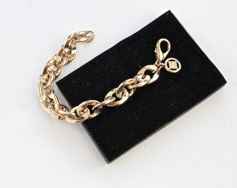 Signed GIVENCHY  Goldtone Chain  Classic  style   bracelet/ Retro Givenchy Chan  bracelet #1840