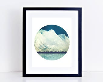 fine art photography mountain landscape plastic bag - limited edition print, landscape photography, home decor - Synthetic Scenes Wasteland