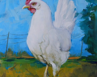Prints of white hen