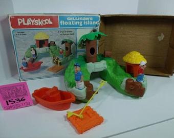 1970's Playskool Gilligan's Island Floating Playset